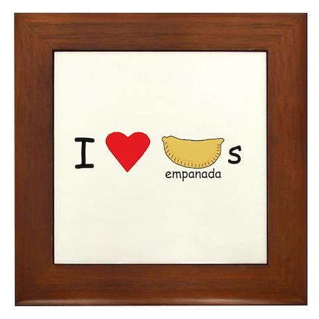 I love empanadas! Framed Tile