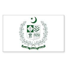 Pakistan Coat of Arms Rectangle Decal