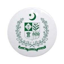 Pakistan Coat of Arms Ornament (Round)