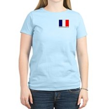"""Martinique Flag"" Women's Pink T-Shirt"