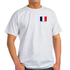 """Martinique Flag"" Ash Grey T-Shirt"