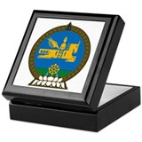 Mongolian coat of arms Square Keepsake Boxes