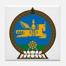 Mongolian Coat of Arms Tile Coaster