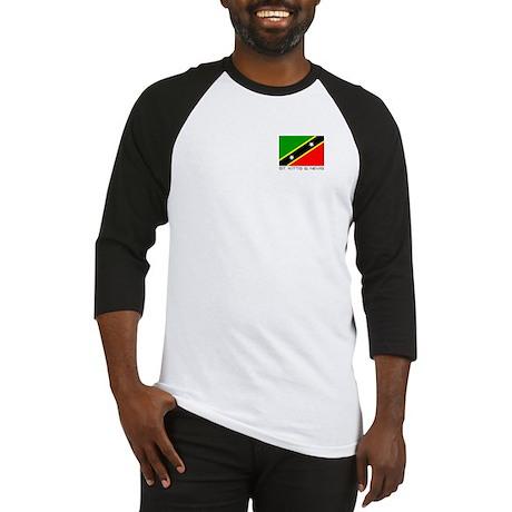"""St Kitts & Nevis"" Baseball Jersey"