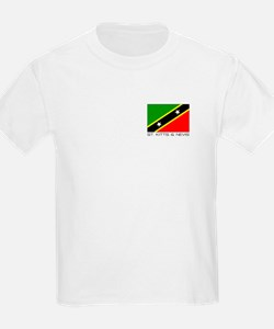 """St Kitts & Nevis"" Kids T-Shirt"