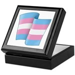 Flying Trans Pride Keepsake Box