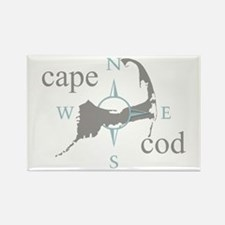 Cape Cod Compass Rectangle Magnet (100 pack)