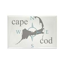 Cape Cod Compass Rectangle Magnet