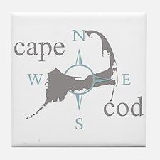 Cape Cod Compass Tile Coaster