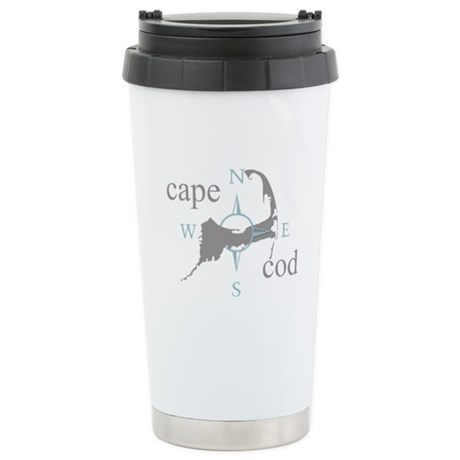 Cape Cod Compass Stainless Steel Travel Mug