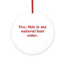 Natural Redhead Ornament (Round)