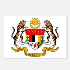 Malaysia Coat of Arms Postcards (Package of 8)