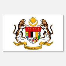 Malaysia Coat of Arms Rectangle Bumper Stickers