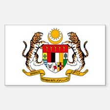 Malaysia Coat of Arms Rectangle Decal