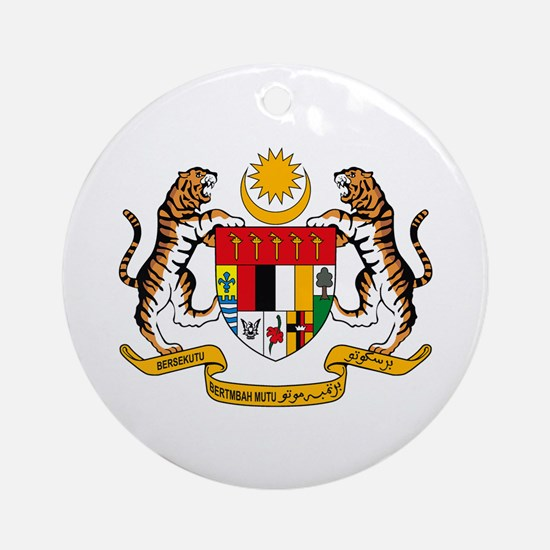 Malaysia Coat of Arms Ornament (Round)