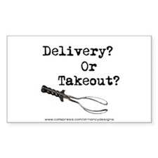 Delivery? Or Takout? Decal