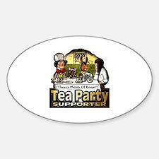 Tea Party ~ Sticker (Oval)