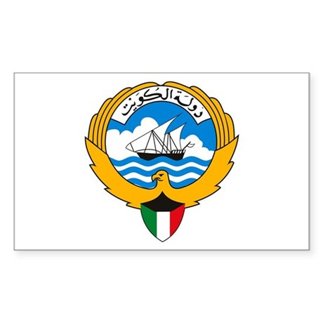 Kuwait Coat of Arms Rectangle Sticker