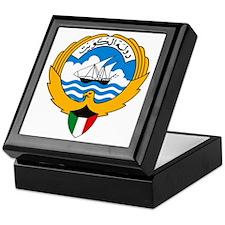 Kuwait Coat of Arms Keepsake Box