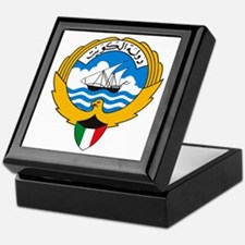 Kuwait Coat of Arms Keepsake Box