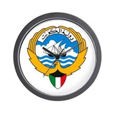 Kuwait Coat of Arms Wall Clock