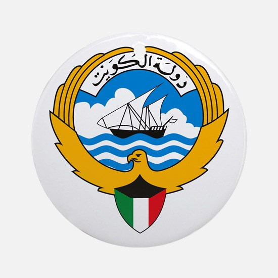 Kuwait Coat of Arms Ornament (Round)