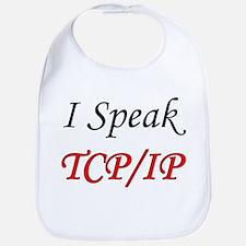 """I Speak TCP/IP"" Bib"