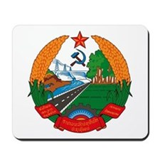 Laos Coat of Arms Mousepad