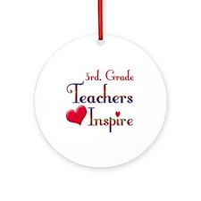 Unique 3rd grade teacher Ornament (Round)