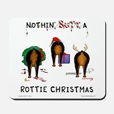 Rottweiler Christmas Mousepad
