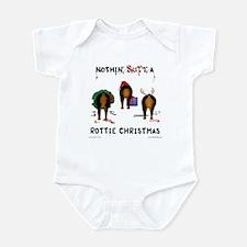 Rottweiler Christmas Infant Bodysuit