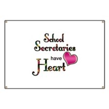 Funny School secretary Banner