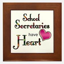 School secretary Framed Tile