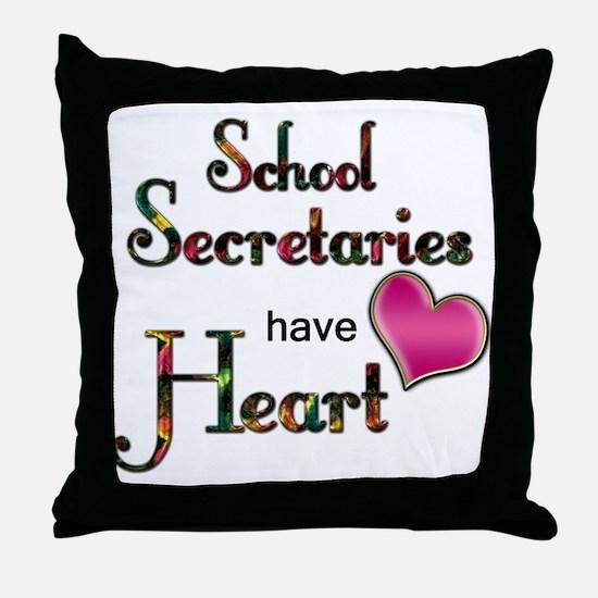 Cute Secretary Throw Pillow