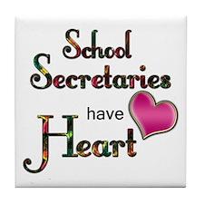 Funny School secretary Tile Coaster