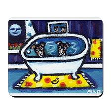 RAT TERRIERS bath Mousepad
