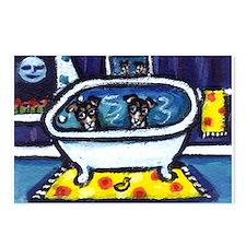 RAT TERRIERS bath Postcards (Package of 8)