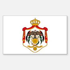 Jordan Coat of Arms Rectangle Decal