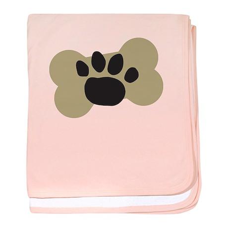 Dog Lover Paw Print baby blanket