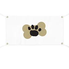 Dog Lover Paw Print Banner