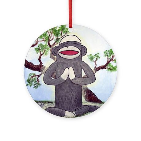Sock Monkey Nirvana Ornament (Round)