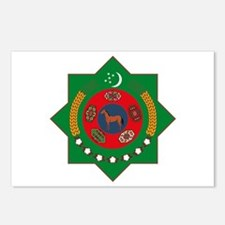 Turkmenistan Coat of Arms Postcards (Package of 8)