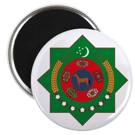 "Turkmenistan Coat of Arms 2.25"" Magnet (10 pack)"