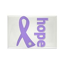 General Cancer Hope Rectangle Magnet
