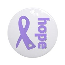 General Cancer Hope Ornament (Round)