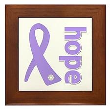 General Cancer Hope Framed Tile