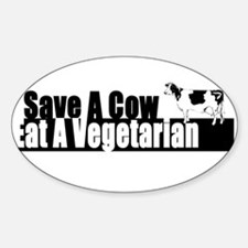 Save a Cow Oval Decal