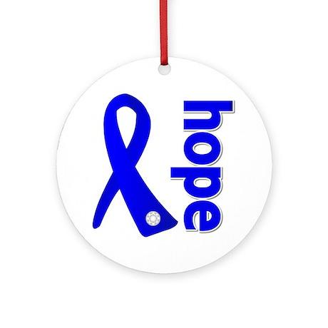 Hope Ribbon Colon Cancer Ornament (Round)