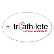 """Tri-an-Athlete"" Oval Decal"