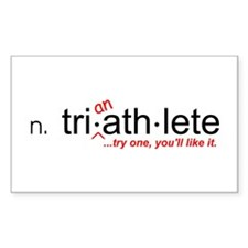 """Tri-an-Athlete"" Rectangle Decal"